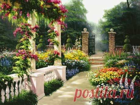 Цветущие сады американского художника Эгидио Антонассио