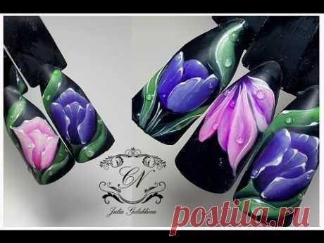 dizayn nails ❤ we Draw tulips ❤