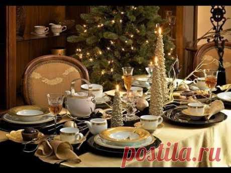 Украшаем стол на Новый Год
