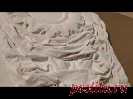 Объемное панно из ткани и шпатлевки своими руками.