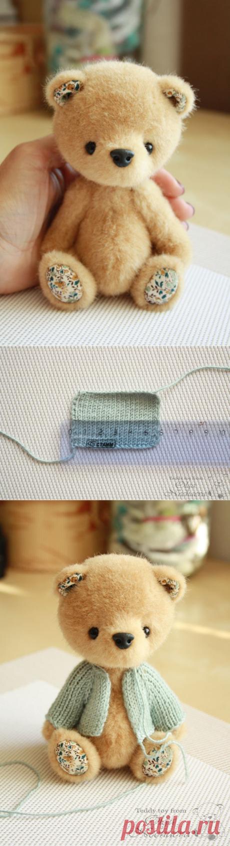 Мастер-класс по вязанию кофточки с капюшоном для мишки - Ярмарка Мастеров - ручная работа, handmade