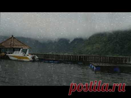 Rainstorm sounds on Water | Gentle Lake Waves & Thunderstorm for Sleeping, Relaxing, Insomnia
