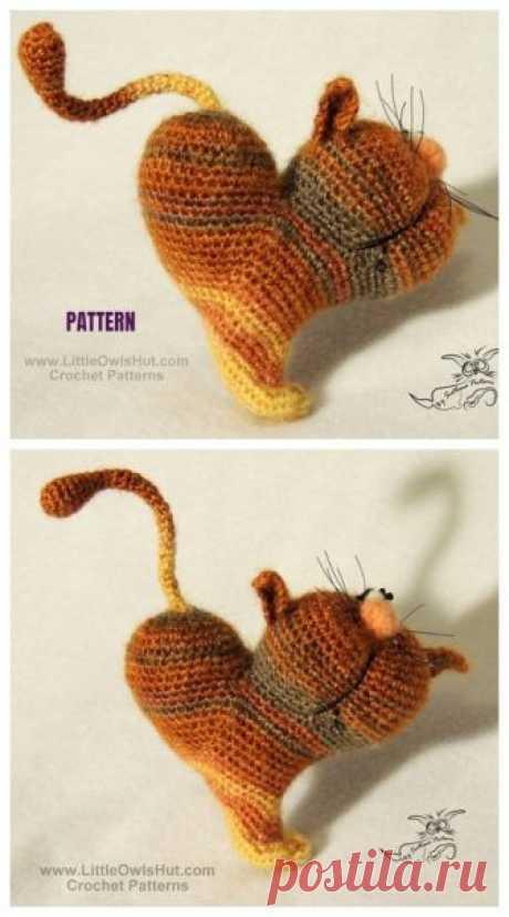 KUFER z artystycznym rękodziełem : Walentynkowy kot amigurumi - tutorial
