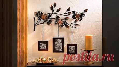 Декор стен комнаты: идеи как украсить своими руками!