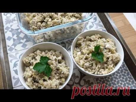 Рисовый салат с шпротами и яйцом | Фуд Бук | Яндекс Дзен