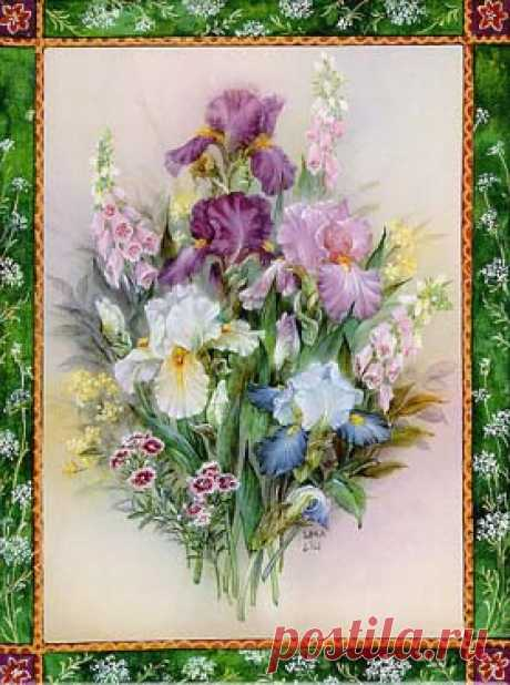 "Lena Liu's ""Iris Bouquet"" Limited Edition Art"