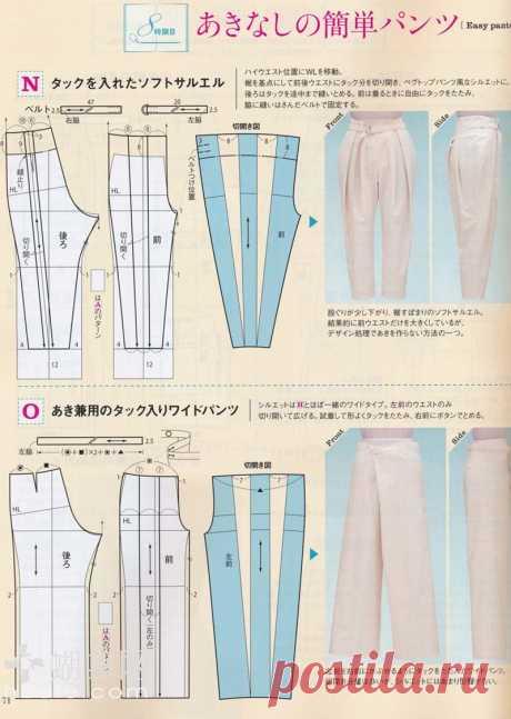 Элегантные брюки на любой вкус с выкройками. | OllyClub