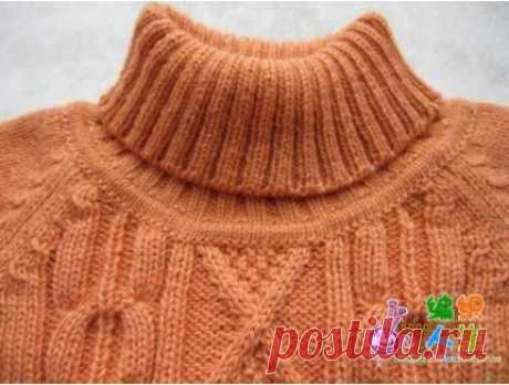 Accession of a collar of a sweater STEP-BY-STEP PHOTOS Very accurately