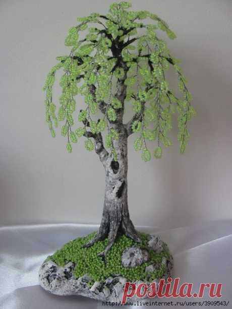 Нежнейшее деревце из бисера — Сделай сам, идеи для творчества - DIY Ideas