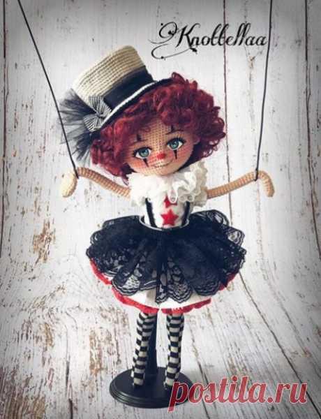 Как связать каркасное тело для куклы крючком, описание