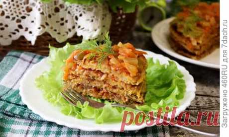 Кабачковый закусочный торт с овощной прослойкой. Рецепт приготовления с пошаговыми фотографиями