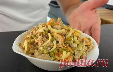 Салат Купеческий со Свининой Очень Вкусный Рецепт Салат Купеческий рецепт с отварной свининой: очень вкусный и сытный. Готовится он очень просто и быстро, получается очень сытным.