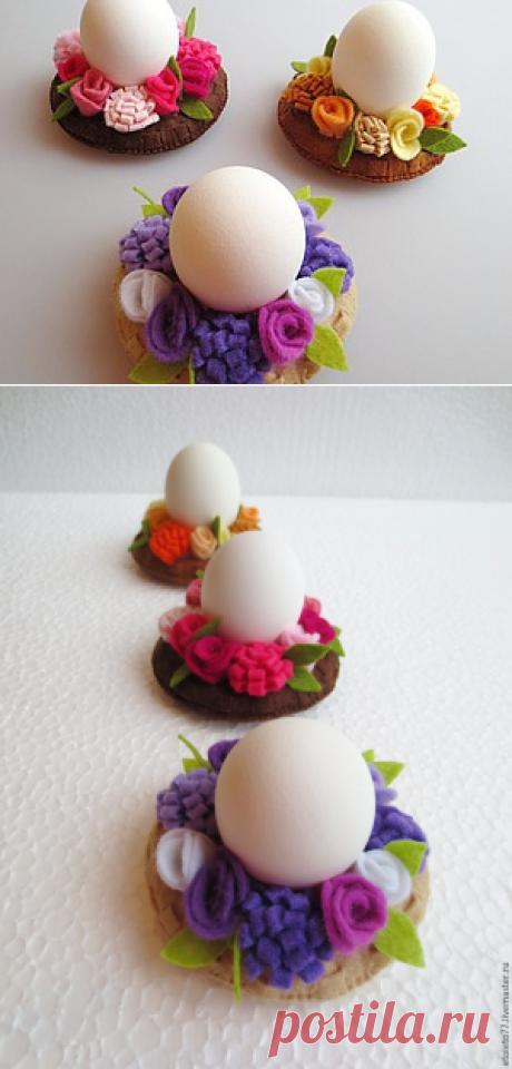 Поделки к Пасхе: шьем декоративные подставки для яиц - Цветы жизни