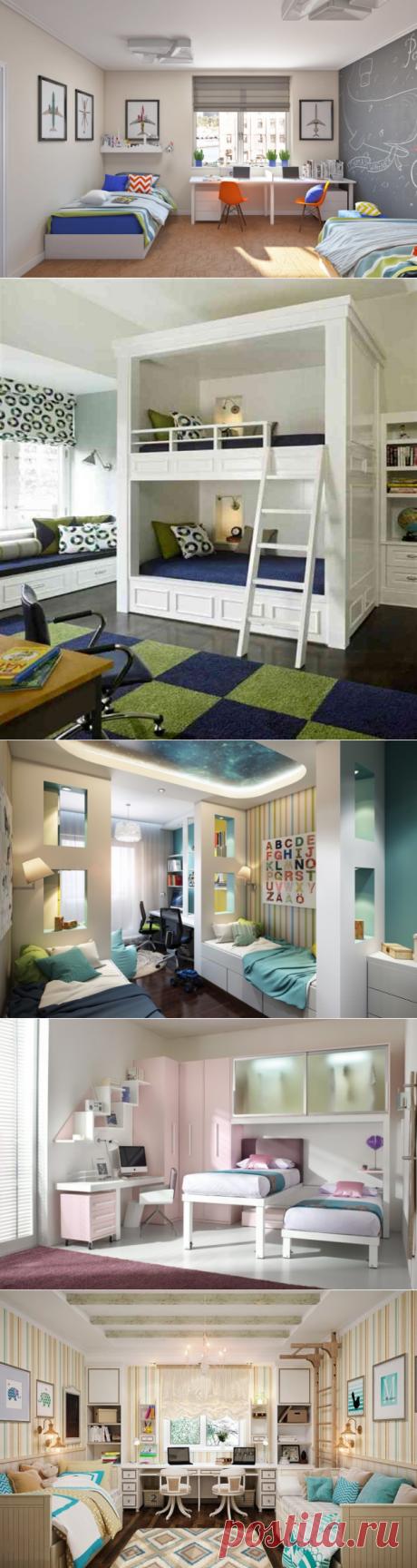 Свежие идеи для обустройства детской комнаты для двух детей | Мой дом