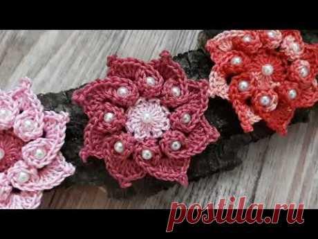 Вязаные ЦВЕТЫ Knitted flower (Анонс канала)