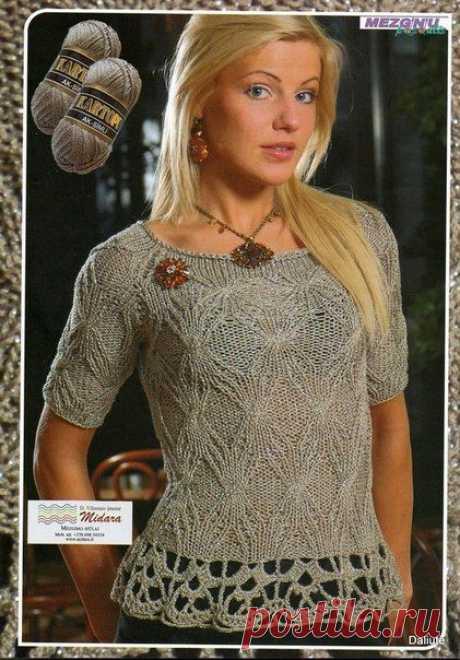 Вязание: элегантная кофточка.