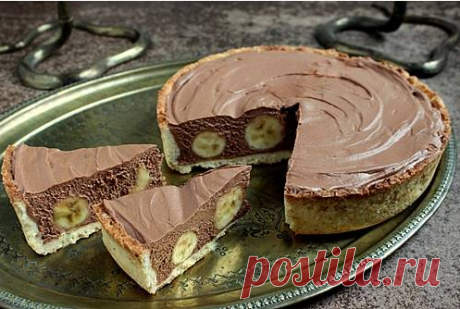Cake with bananas and chocolate mousse \/ Menu of week