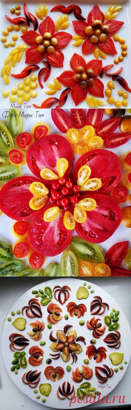 Красивый фуд-арт томатовода-любителя Эльмиры Алмакаевой