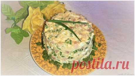 Cалат с сельдью, картофелем и яйцами Очень вкусный и простой в исполнении салат с сельдью, картофелем и яйцами вполне может заменить знаменитую селедку под шубой. Подходит для праздничного стола, нравится гостям.Ингредиенты:филе сельди – 240 гр.;картофель – 300 гр.;яйца – 2 шт.;зеленый лук – 1 пуч.;майонез – 3...