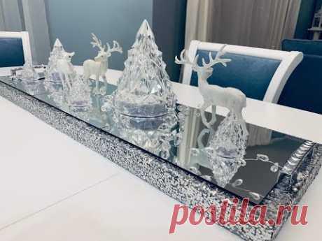 Новогодний декор! Зеркальная дорожка на стол!