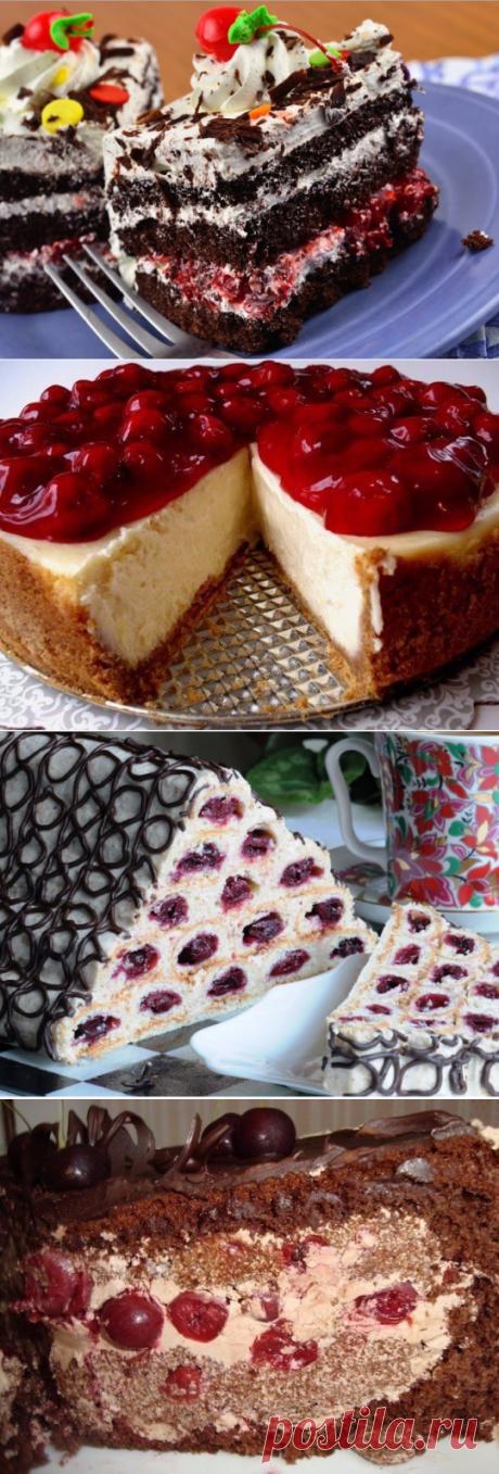 Шесть самых вкусных вишнёых тортов