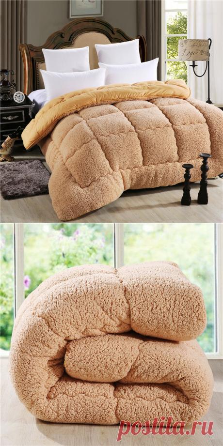 Супер-теплое одеяло из австралийской овцы - от 4187 руб. Доставка бесплатна!