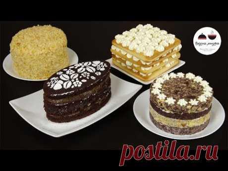 Las recetas simples de las tortas. La torta sobre la leche condensada, la torta magra de chocolate con la mermelada, la torta de la pesochno-masa con levadura con la crema de crema y la torta, que es posible prig...