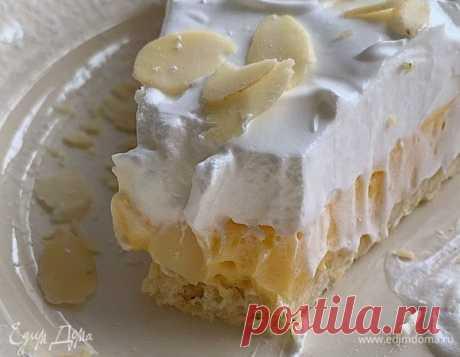 Лимонный тарт с безе, рецепт с ингредиентами: пшеничная мука, сливочное масло, сахар