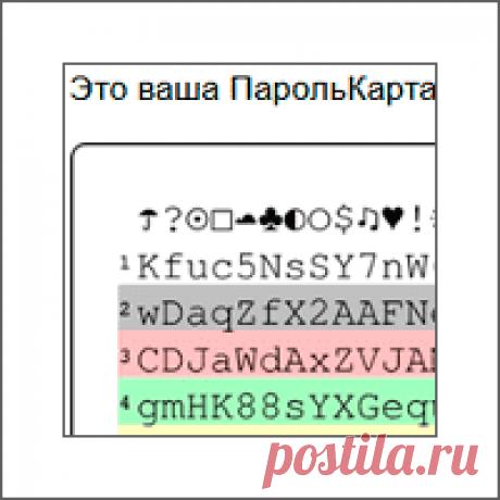 Как придумать надежный пароль автономно с Картой паролей Задаетесь вопросом, как придумать надежный пароль и быстро вспомнить его? Вам поможет удобная ПарольКарта, которую можно носить в своем бумажнике.