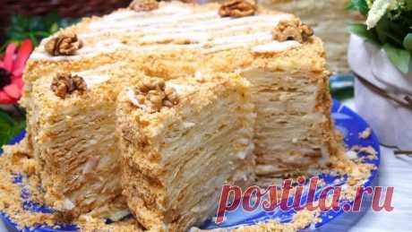 Торт Наполеон со вкусом Мороженого или Пломбирный торт Наполеон!