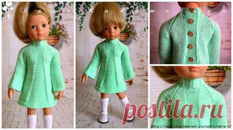Нежно-зелёная туника для кукол от Gotz из серии Happy Kidz ростом 50 см. Автор: Инна Рудометова