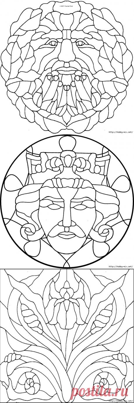 Красивейшие шаблоны для витражной росписи (очень много) - Шаблоны - Барахолка - Каталог файлов - МЕТОДИЧЕСКИЙ СУНДУЧОК - Сайт учителя Изо