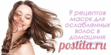 Маски для ослабленных волос: 9 рецептов и отзывы