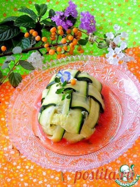 Рыбное филе в мешке из цуккини - кулинарный рецепт