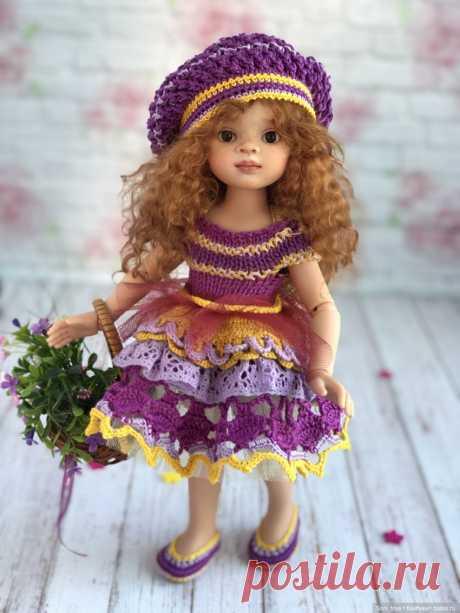 Платьице для Паола Рейна 32-34 см / Вязание для кукол / Бэйбики. Куклы фото. Одежда для кукол
