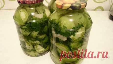 Салат из зеленых помидоров «Изумрудный» на зиму - Образованная Сова