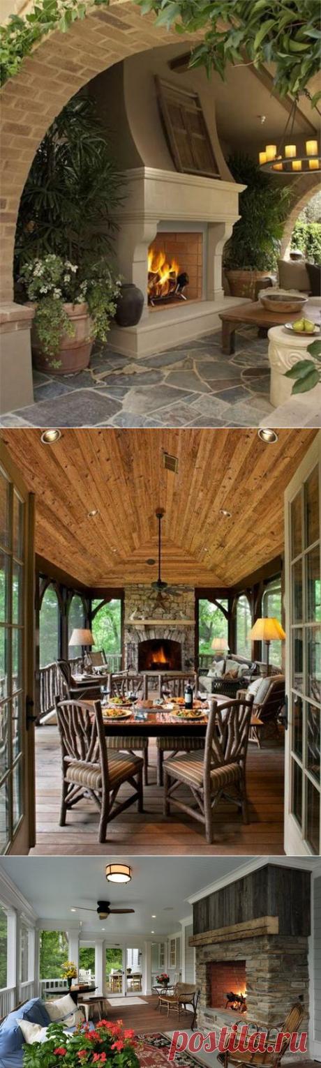 Устройство камина на веранде — Домашний уют