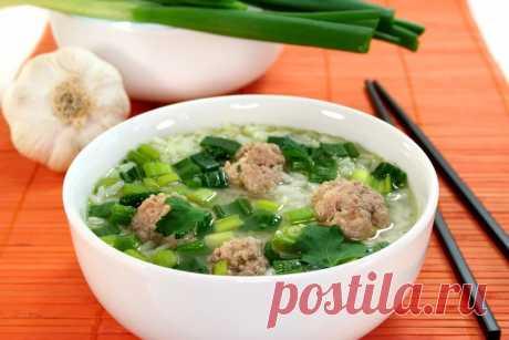 Вкусная идея для обеда - рисовый суп с фрикадельками Вкусно и сытно. Рекомендую!