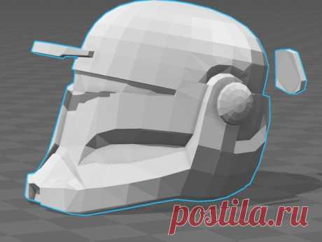 """SW RC Bucket Helmet by Jace1969 An old file from my Pepakura making days that I discovered in Pepakura Designer you can export to .OBJ and in """"Windows 10 3DBuilder or 123Design"""" export to .STL. Unfortunately I don't have the skills yet to improve further on the model, but maybe someone out there would like to tidy it up. Please upload it back as a remix if you do take the time to clean it up. Please note this was originally uploaded to the net as a free down load. So I can..."""