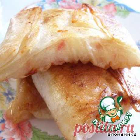 Пирожки из лаваша с яблоками - кулинарный рецепт