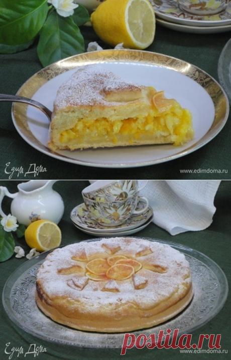 Лимонный пирог. Ингредиенты: мука, сливочное масло, сметана 15%