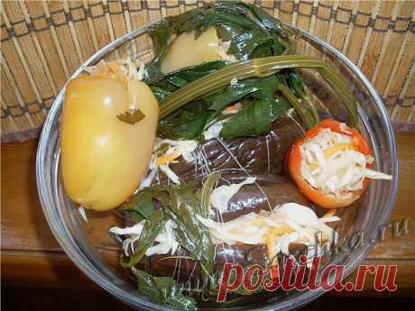 Квашеные баклажаны - рецепт с фото