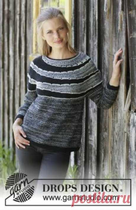 Свитер Исчезающие круги Потрясающая модел женского свитера, связанного на спицах 3.5 мм из тонкой пряжи на основе шерсти. Вязание модели начинается от воротника...