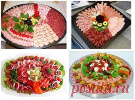 Удивительные, оригинальные и красивые идеи подачи мясной нарезки Удивите своих гостей!