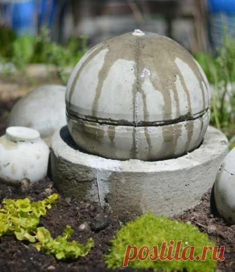 Поделки из цемента 🍀 для сада своими руками - фото фигурок из арт бетона пошагово