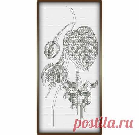 Изумительные цветы в черно-белой гамме