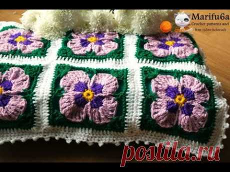 Pattern here : https://marifu6a.com/?product=crochet-violets-flowers-blanket-afghan-pattern-by-marifu6a Easy Lemon 60 Second by Kevin MacLeod is licensed und...