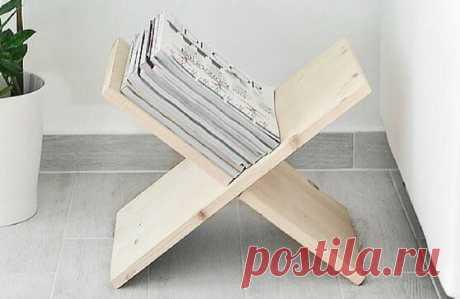 Подставка для книг и журналов простой конструкции