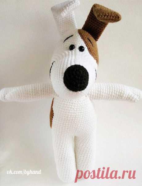 Knitted doggie :) Description\u000a\u000a#byhand | #шитье | #handmade | #рукоделие | #мастеркласс