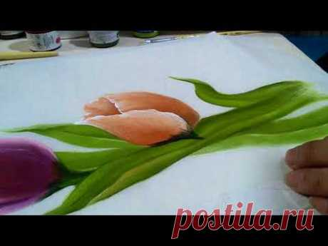 Tulipanes paso a paso v2 flores y follaje